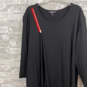 Gramercy22 black & red knit shirt